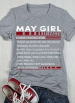 My girl is most known for human lie detector and the realist speaking fluent sarcasm having zero tolerance for stupidity t-shirt