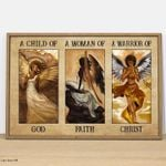 A child of god woman of faith warrior of christ poster canvas