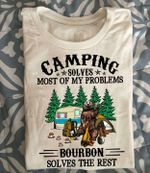Bear camping solves most of my problems bourbon solves the rest shirt