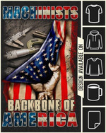 Machinists backbone of america t-shirt