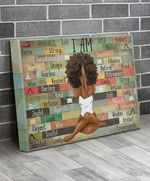 Afro girl i am bold strong beautiful strong lovely elegant yoga poster