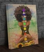 Afro girl i know i see i speak i love i do i feel i am sunflower yoga poster