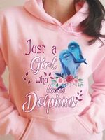 Just a girl who loves dolphins hoodie