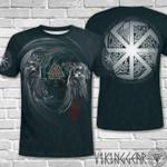 Yin Yang Raven Valknut Viking 3D t-shirt