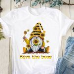 Save the bees gnomes sunflower t-shirt