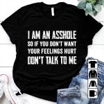 I am an -sshole so if you don't want your feelings hurt don't talk to me t-shirt
