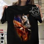 Heeler eagle american flag for lovers shirt