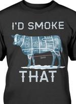I'd smoke that steak cut tshirt