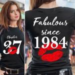 Chapter 37 fabulous since 1984 red lips personalized shirt