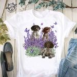 German Shorthaired Pointer purple flowers butterflies for lovers shirt