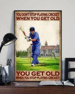 You don't stop playing cricket when you get old you get old when you playing cricket poster