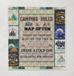 Camping Rules Nap Often Watch The Sunset Visit With Friends