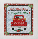 God Blessed The Broken Road That Led Me Straight To You Red Car Personalized