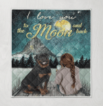I Love You To The Moon And Back Rottweiler