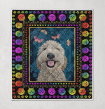 Goldendoodle Rainbow Psychedelic Dog