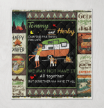 Personalized Names Couple Camping Partner For Life Camping Happy Camper Couple