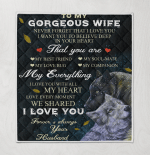 To My Gorgeous Wife I Love You Forever & Always Wolf Couple