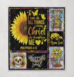 Christian Sunflower Philippians 4 Pretty Bible Verse Gift