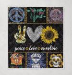 Peace love sunshine hippie paisley hi heart Sunflowers