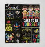 Autism Prevention Dare To Be Yourself Different Superhero Be Kind Ribbon