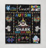 Autism Shark Doo Doo Doo Different Not Less Elephant Autism Aunt