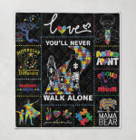 Autism You Will Never Walk Alone Family Autism Aunt Mama Bear