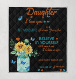 Sunflower To My Daughter Never Forget That I Love You Always Be There You Are My Sunshine Mom Butterflies