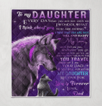 To My Daughter Every Day That You Are Not With Me I Think About You Forever Love Dad Wolf