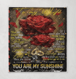 Wife Blanket To My Wife You Are Braver Than You Believe Husband Roses Black Premium Blanket