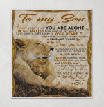 Lion To My Son Never Feel That You Are Alone No Matter How Near Or Far Apart I Am Always In Your Heart Mom