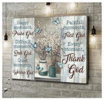 Happy moments difficult moments quiet moments painful moments every moment flower & butterly poster poster canvas