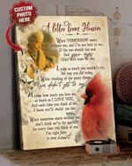 A Lettler From Heaven Poem Poem Red Cardinals Personalized Photo Memorial Gift Poster Canvas