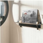A hug sent from heaven to always remind you I'm here cardinals in winter scene memorial poster canvas gift for loss of loved one Poster