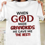 When God Made Grandkids He Gave Me The Best T-Shirt Gift For Grandparents From Childs Tshirt