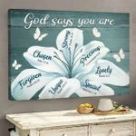 God Says You Are Chosen Strong Precious Special Bible Poster Canvas Gift For Jesus Believers Poster