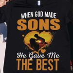 When God Made Sons He Gave Me The Best Heart T Shirt Best Gift For Mom From Son Tshirt