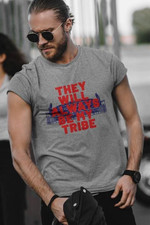 They Will Always Be My Tribe Red Word Blue Background T Shirt Best Gift For Friends Tshirt