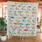 Dinosaur Alphabet A Is For Allosaurus B Is For Baryonyx Blank Quilts Best Gift For Dinosaurs Lovers Quilt Blanket