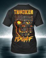 Trucker Stuck Between Idk Idc And Idgaf Skull Burning T Shirt Best Gift For Friend Tshirt