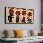 Samurai Girl Be Strong When You Are Weak Be Brave When You Are Scared Poster Canvas Gift For Samurai Fans Poster