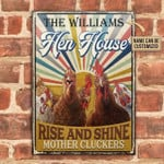 The Williams Hen House Rise And Shine Mother Cluckers Chicken Poster Canvas Best Gift For Chicken Lovers Poster