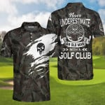 Never Underestimate An Old Man With A Golf Club 3D Designed Allove Gift For Golf Lovers Grandpas Polo shirt