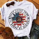 Hippie Symbol Us Flag Every Little Thing Is Gonna Be Alright T Shirt Gift For Hippie Lovers Tshirt