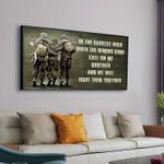 In The Darkest Hour When The Demons Come Call On Me Brother And We Will Fight Them Together Poster Canvas Gift For Veteran Poster