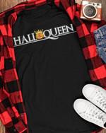 Halluween Halloqueen Pumpkin Crown Quote Black T-Shirt Gift For Halloween Holiday Lovers Tshirt