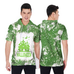 Halloween Castle Ghost White Green Drop Painting 3D Designed Allover Gift For Halloween Holiday Lovers Short Sleeve Hoodie