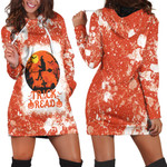 Trick Or Read Halloween Witch Orange White 3D Designed Allover Gift For Halloween Holiday Lovers Hoodie Dress