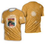 Halloween Time Night Castle Gold 3D Designed Allover Gift For Halloween Holiday Lovers 3D T-shirt