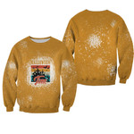 Halloween Time Night Castle Gold 3D Designed Allover Gift For Halloween Holiday Lovers Sweater