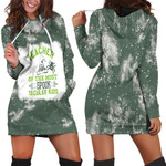 Teacher of the most spook tacular kids witch spider green 3d designed allover gift for Halloween holiday lovers Hoodie Dress